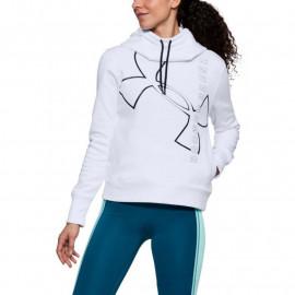 Sudadera con capucha de algodón UA Big Logo mujer